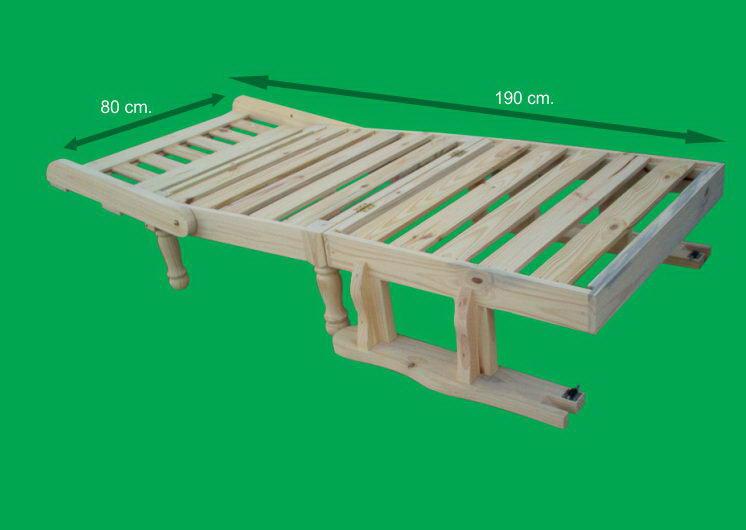 Muebles de pino futones de pino for Divan 1 plaza